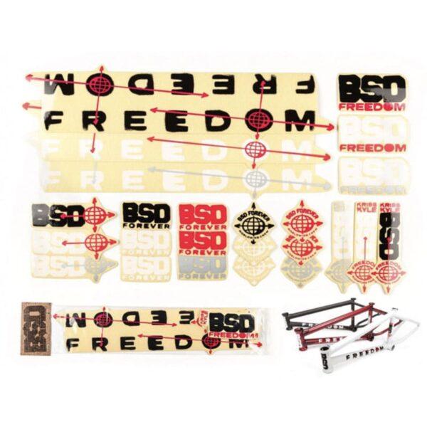 BSD Freedom 2020 стікерпак   BIKESTUFF